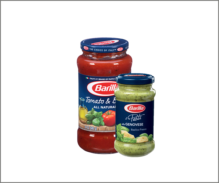 SAVE $.75 when you buy one Barilla Sauce product!