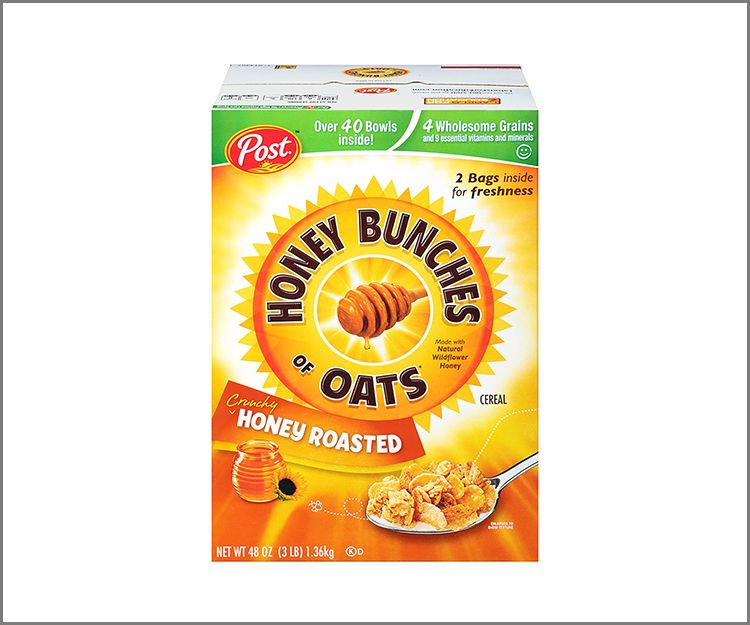 Save $1.00 when you buy two boxes of Honey Bunches of Oats cereal!