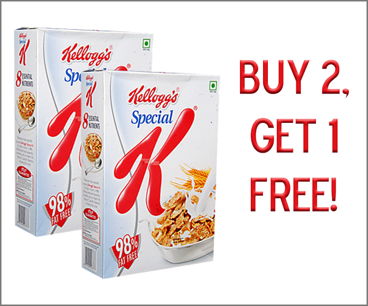Buy 2, Get 1 FREE on any Special K Cereals!