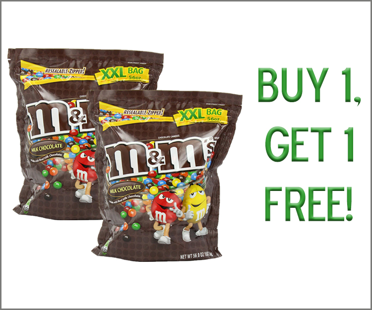 Buy 1, Get 1 Free on any M&Ms!