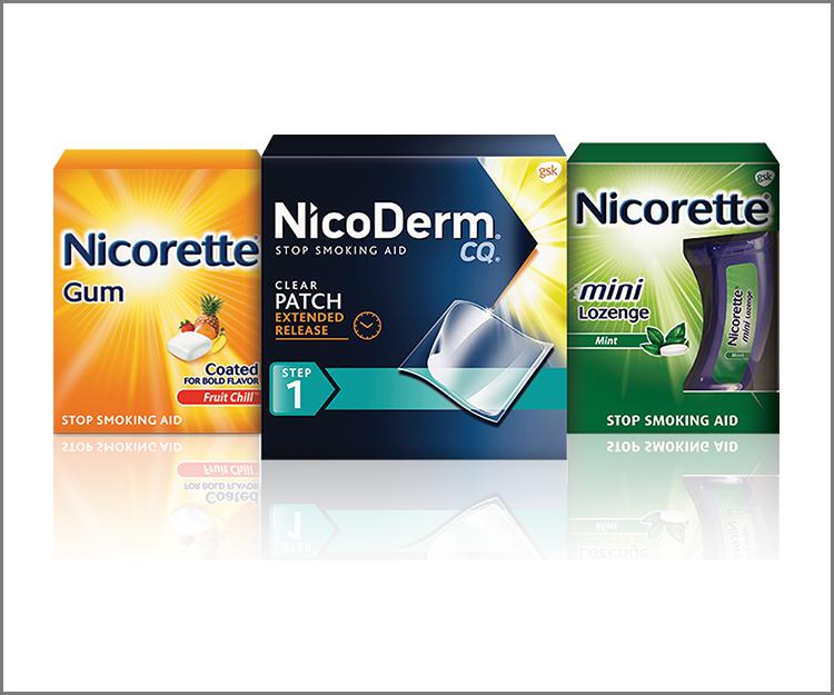 Save $15.00 on any NicoDerm or Nicorette!