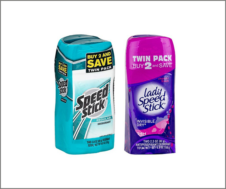 Save $1.00 on any Twin Pack of Men's Speed Stick or Lady Speed Stick!